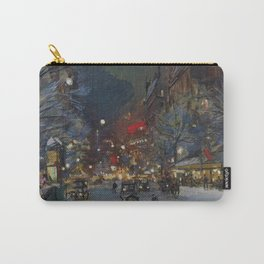 Paris Winter Night Scene landscape painting by Konstantin Korovin Carry-All Pouch