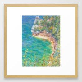 Pictured Rocks Framed Art Print