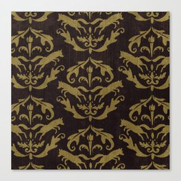 Fox Damask Canvas Print