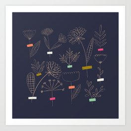 Flower Cuttings Art Print