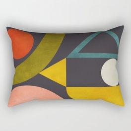 mid century bauhaus geometry abstract 2020 Rectangular Pillow