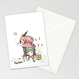 The quiet reader Stationery Cards