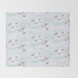 Gulls Throw Blanket