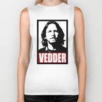 eddie vedder Biker Tanks featuring Eddie Vedder by Darkside-Shirts