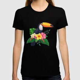 Tropical Toucan Floral Watercolor T-shirt