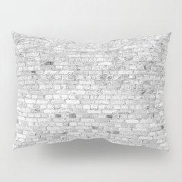 White Washed Brick Wall - Light White and Grey Wash Stone Brick Pillow Sham