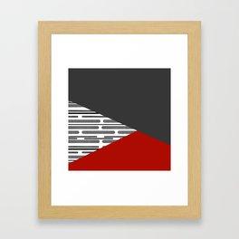Simple patchwork Framed Art Print