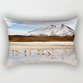 Pink Flamingos & a Peak in the Andes Rectangular Pillow