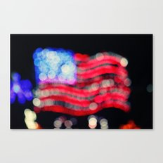 Red, White, and Bokeh Canvas Print
