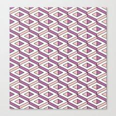 3D geometric pattern in rose quartz and bodacious colours Canvas Print