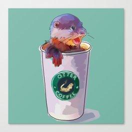 Otter Coffee Canvas Print