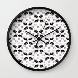 do you eggplant Wall Clock