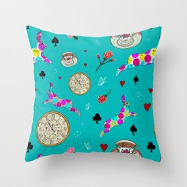 Alice Was Here Throw Pillow