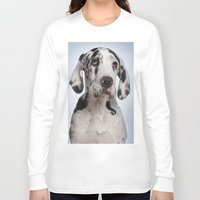 great dane Long Sleeve T-shirts featuring Great dane by Life on White Creative