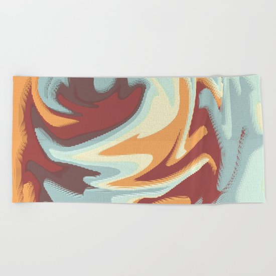 Abstract rose Beach Towel