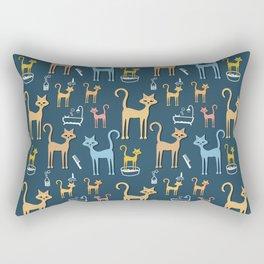Cats Bathtime Rectangular Pillow