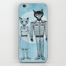 Fox and Wolf iPhone & iPod Skin