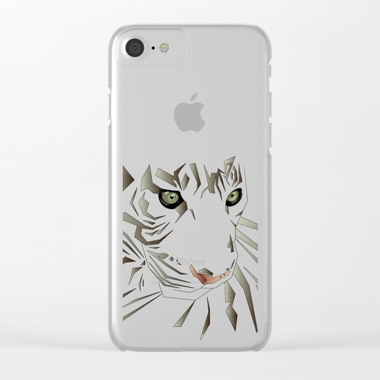 Tiger's Tranquility Clear iPhone Case