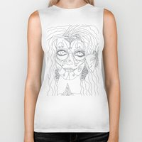 day of the dead Biker Tanks featuring Day of the Dead by MTHARU