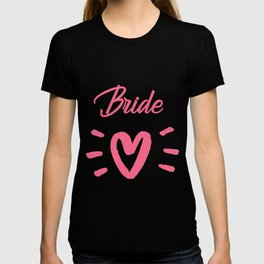 Bride To Be Pink Pulsating Heart Design T-shirt