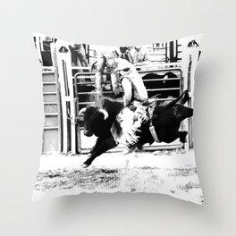 Rodeo Bull Rider Throw Pillow