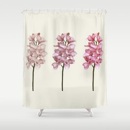Three tones orchids Shower Curtain