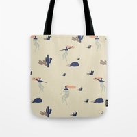 swim Tote Bags featuring Dezert swim by .eg.