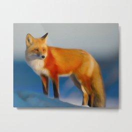 Mr Fox Metal Print