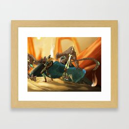 Crossfire Framed Art Print