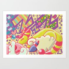Sleeping Sheeps Art Print