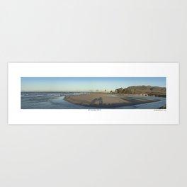 Ventura River Mouth Art Print