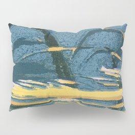 Woodblock Sunset Pillow Sham