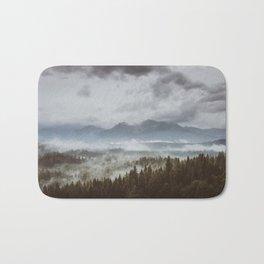 Misty mountains - Landscape and Nature Photography Bath Mat