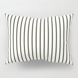 Garden Boot Grey Pinstripe on White Pillow Sham