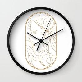 Girl Art Deco 08 Wall Clock