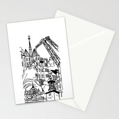 Three City Silhouettes Stationery Cards