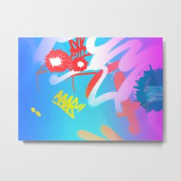 Urban Graff Cat Metal Print