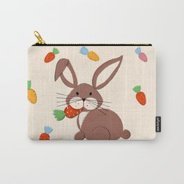 Cute Bunny and Carrots Carry-All Pouch