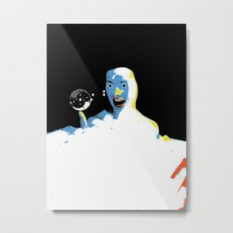bubble baffle Metal Print