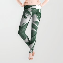 Tropical Banana Leaves Pattern #3 #tropical #decor #art #society6 Leggings