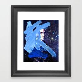 Blue Explosion Framed Art Print