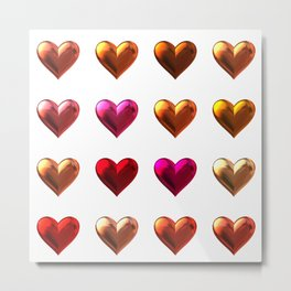 Red heart art Metal Print