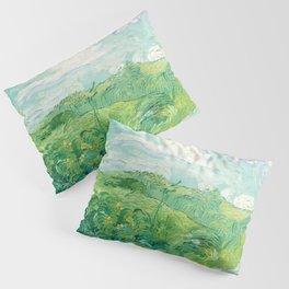 Green Wheat Fields - Auvers, by Vincent van Gogh Pillow Sham