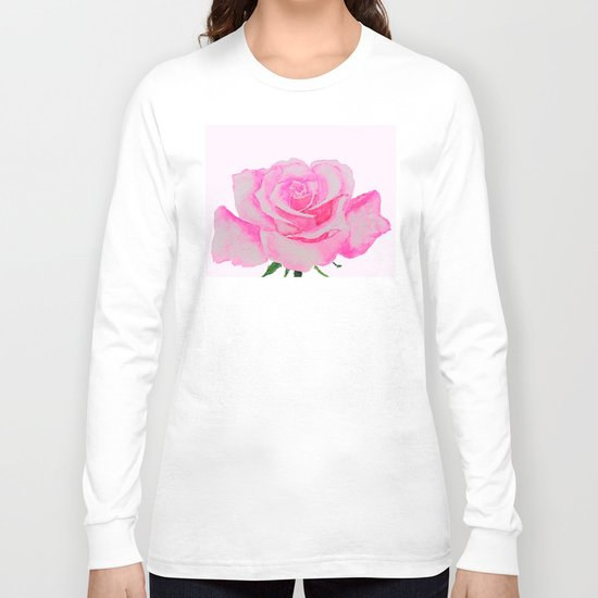 one pink rose Long Sleeve T-shirt