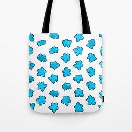Meeple Mania Icy Blue Tote Bag