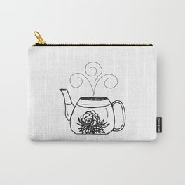 Blossoming Flower Tea Carry-All Pouch
