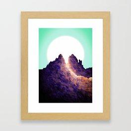 Leaf peak Framed Art Print