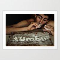 tumblr Art Prints featuring Tumblr by JordannnnM