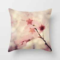 blush Throw Pillows featuring Blush by Jenndalyn