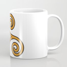 Orange Triskel Coffee Mug